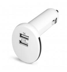 Adaptador con 2 salidas USB para coche personalizado Color Blanco