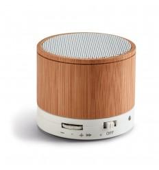 Altavoz de bambú con micrófono personalizado Color Natural