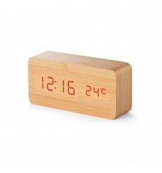 Reloj de madera para sobremesa personalizado Color Natural claro