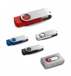 Memoria USB giratoria de 16GB publicitaria
