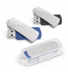 Memoria USB de 4GB con clip de metal publicitaria
