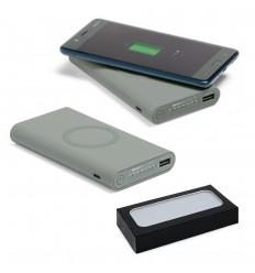 Batería portátil con carga por inducción publicitaria