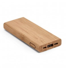 Powerbank de bambú personalizado Color Natural