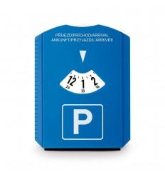 Disco de aparcamiento con rascador de hielo publicitario Color Azul