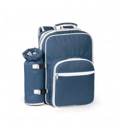 Mochila térmica con accesorios para pícnic personalizada Color Azul