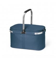Cesta de picnic con interior forrado barata Color Azul