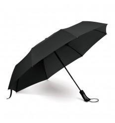 Paraguas de poliéster con mango de plástico personalizado Color Negro