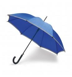 Paraguas de poliéster con ribete reflectante barato Color Azul royal