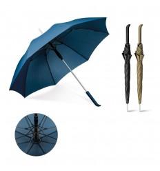 Paraguas automático anti viento con mango de caucho publicitario