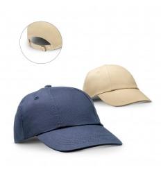 Gorra de algodón ajustable con hebilla metálica publicitaria