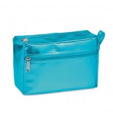 Neceser de PVC brillante personalizado Color Azul