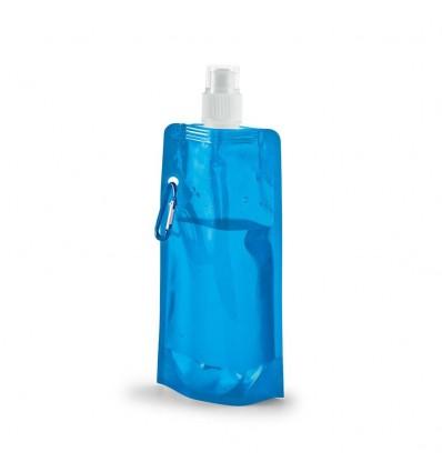 Botella plegable de plástico para publicidad Color Azul Claro