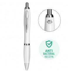 Bolígrafo antibacterias con clip de metal publicitario