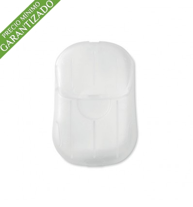 Hojas de jabón con estuche personalizado Color Transparente