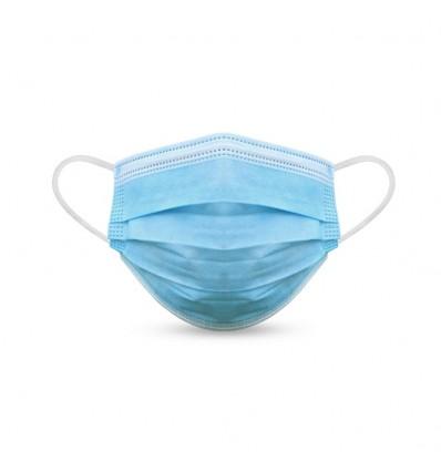 Mascarilla quirúrgica homologada Tipo 2R barata Color Azul Claro