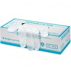 Guantes de vinilo sin polvo Talla XL personalizados Color Blanco