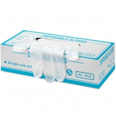 Guantes de vinilo desechables Talla L personalizados Color Blanco