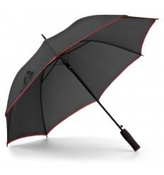 Paraguas de Poliéster con Línia de Color con logo Personalizado Color Rojo