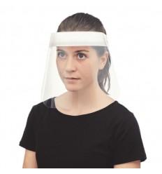 Pantalla facial con cinta ajustable publicitaria