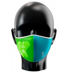 Mascarilla personalizada para servicios de limpieza publicitaria Vista de frente
