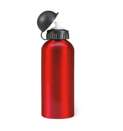 Botella de Aluminio de 600 ml Publicitaria color Rojo