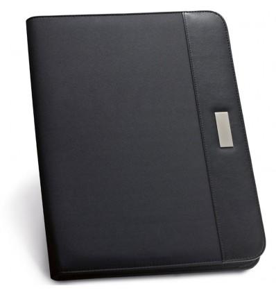 Carpeta de Polipiel y Microfibra Personalizada Color Negro