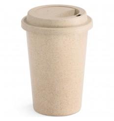 Vaso 450ml de Fibra de Bambú publcitario Color Natural