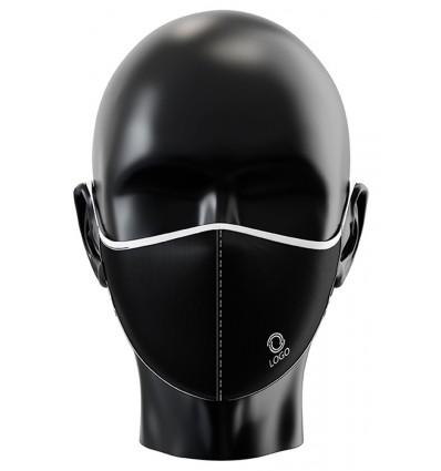 Mascarilla reutilizable personalizada por sublimación Color Negro