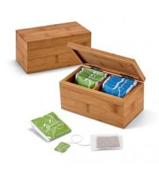 Caja de Infusiones de Bambú Mini para Publicidad Promocional