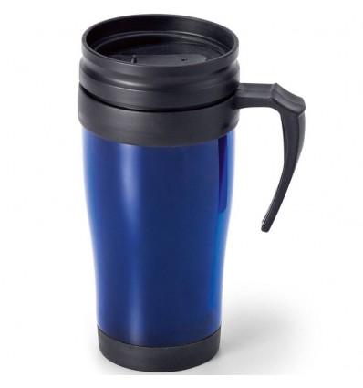 Taza de Viaje con Tapón personalizada Color Azul Royal