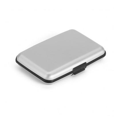 Porta Tarjetas de Aluminio personalizado Color Cromado Satinado