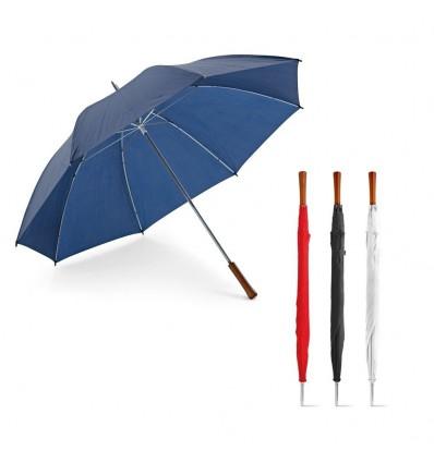 Paraguas de Golf con Mango de Madera publicitario