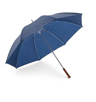 Paraguas de Golf con Mango de Madera personalizado Azul