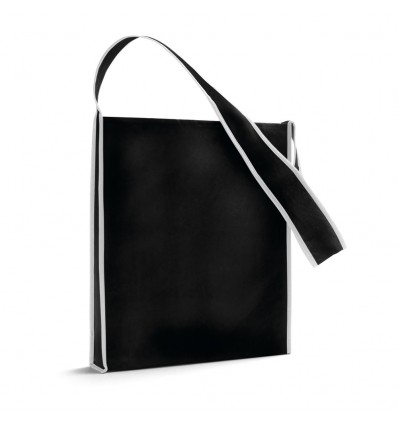 Bolsa Bandolera de Non-Woven personalizada Color Negro