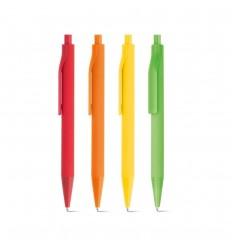 Bolígrafo de Color con Acabado de Goma económico