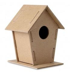 Caseta de Aglomerado para Pájaros publicitaria