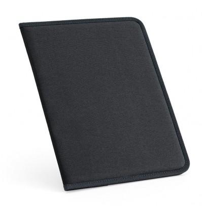 Portafolios con Bloc de Notas personalizado Color Negro