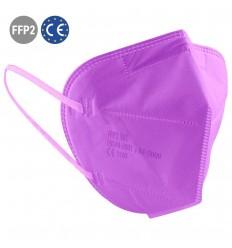 Mascarilla FFP2 de Color Violeta para eventos