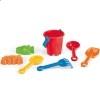 Cubo de Playa con 6 Accesorios personalizado con logo de empresa Color Rojo