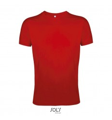 Camiseta ajustada de algodón Sol's Regent Fit 150 para eventos Color Rojo Vista Frontal