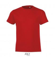 Camiseta para niños 100% algodón Sol's Regent Fit 150 para publicidad Color Rojo Vista Frontal