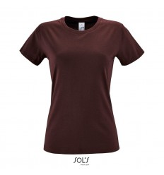 Camiseta entallada para mujer manga corta Sol's Regent 150 merchandising Color Burdeos Vista Frontal