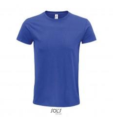 Camiseta de algodón biológico Sol's Epic 140 promocional Color Azul Royal Vista Frontal