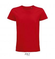 Camiseta de algodón punto liso Sol's Pioneer 175 para publicidad Color Rojo Vista Frontal