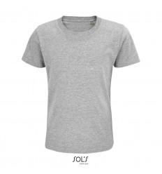 Camiseta infantil de algodón punto liso Sol's Pioneer 175 barata Color Gris Jaspeado Vista Frontal