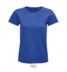 Camiseta mujer de algodón biólogico Sol's Pioneer 175 merchandising Color Azul Royal Vista Frontal