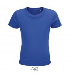 Camiseta niños de algodón tacto suave Sol's Crusader 150 promocional Color Azul Royal Vista Frontal