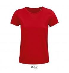 Camiseta mujer de algodón punto liso Sol's Crusader 150 para publicidad Color Rojo Vista Frontal