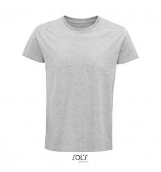 Camiseta de algodón de corte ajustado Sol's Crusader 150 barata Color Gris Jaspeado Vista Frontal