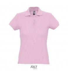 Polo ajustado de algodón para mujer Sol's Passion 170 económica Color Rosa Vista Frontal
